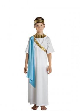Disfraz de Noble Griego Blanco para niño