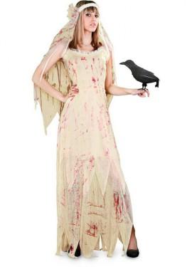 Disfraz de Novia Cadáver con sangre para mujer