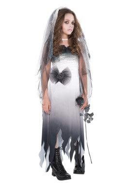 Disfraz de Novia cadáver para adolescentes para Halloween