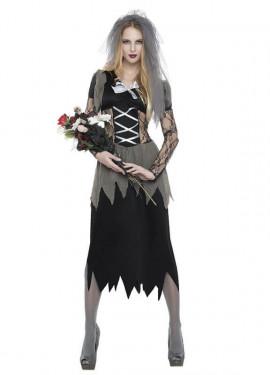Déguisement de Fiancée Cadavre ou Fantôme pour femme.