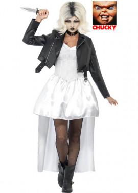 Disfraz de Novia de Chucky Blanco para mujer