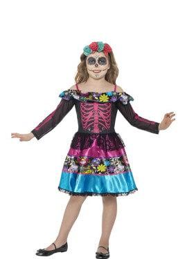 Disfraz de Novia del Día de Muertos para niña