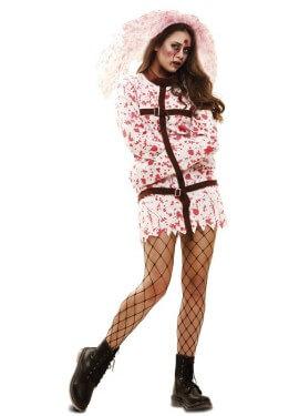 Disfraz de Novia Demente Sangrienta para mujer