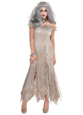 Disfraz de Novia no muerta para mujer en talla M-L para Halloween