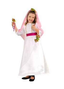 Disfraz de Novia para niñas de 3 a 4 años