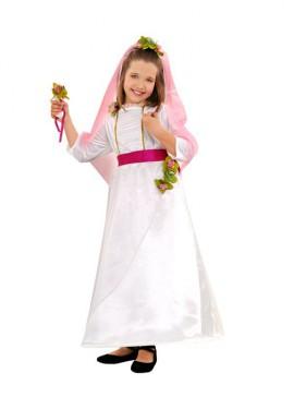 Disfraz de Novia para niñas de 7 a 9 años
