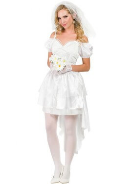 Costume da sposa sexy per una donna