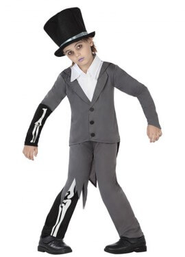 Disfraz de Novio Cadáver para niños para Halloween