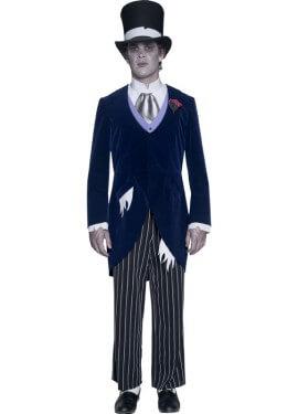Disfraz de Novio Fantasma Gótico para hombre