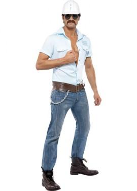 Disfraz de Obrero Albañil de los Village People para Hombre
