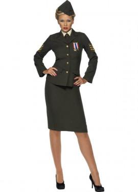 Disfraz de Oficial en Tiempos de Guerra para Mujer
