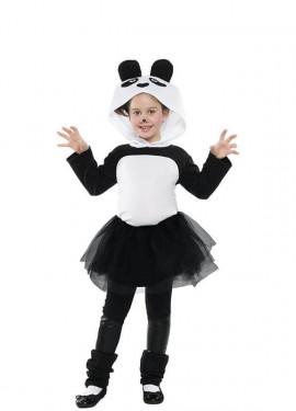 Disfraz de Oso Panda Tutú para niña