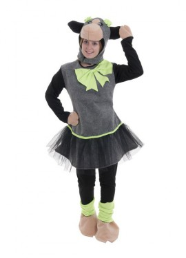 Disfraz de oveja verde con tutú para mujer