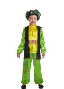 Disfraz de Paje Navidad verde para niño