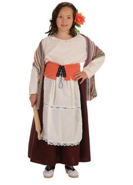 Déguisement Boulangère médiévale pour fille