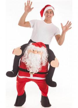 Disfraz de Papa Noel a hombros de gran calidad para adultos