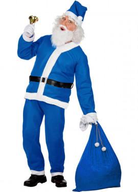 Déguisement de Père Noël Bleu pour homme