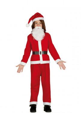 Disfraz de Papa Noel con barba para niño