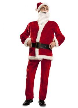 Disfraz de Papa Noel de Terciopelo para hombre