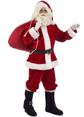 Disfraz de Papa Noel Deluxe para hombre