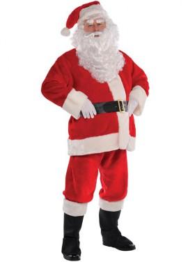Disfraz de Papá Noel deluxe para hombre para Navidad