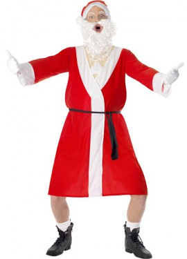 Disfraz de Papá Noel Exhibicionista para Hombre