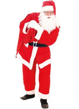 Disfraz de Papa Noel Terciopelo para adulto