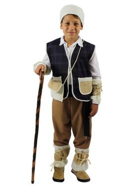 Disfraz de Pastor morado rústico para niño exclusivo de Disfrazzes