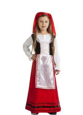 Disfraz de Pastora Campesina para niña