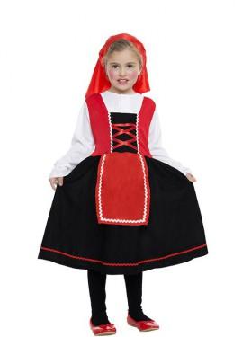 Disfraz de Pastorcita con falda negra para niña