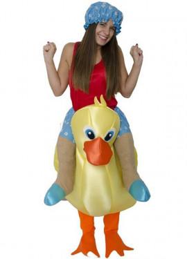 Déguisement Gonflable Carry Me Petit Canard pour adulte