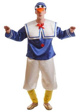 Disfraz de Pato Azul para adultos
