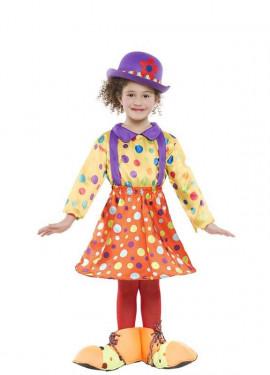 Disfraz de Payasa a lunares para niña