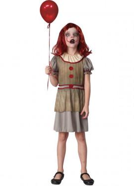 Déguisement terrifiant Payasa pour fille