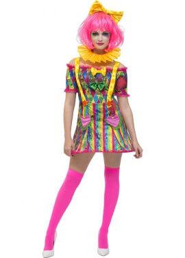 Disfraz de Payasa Corazones Fever para mujer c50ca9811d0