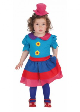 Disfraz de Payasa Crispina para bebé
