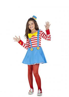 Disfraz de Payasa Rayas para niña