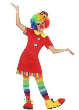 Costume da Clown rosso per bambina