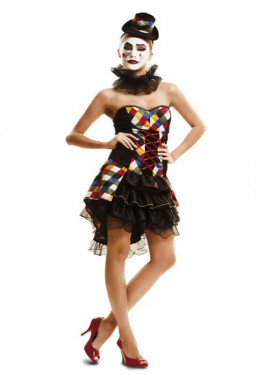 Disfraz de Payasa sexy para mujer