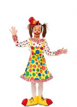 Disfraz de Payasita con Topos para niña