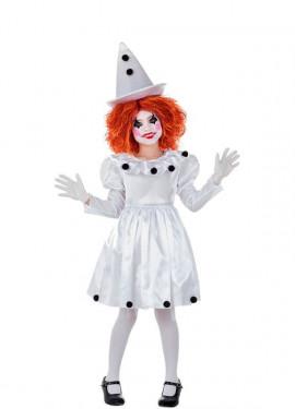 Costume da Pagliaccia Pierrot per bambina