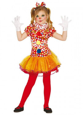 Disfraz de Payasita Topos para niña