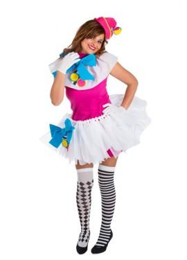 Déguisement de Clown avec Tutu pour femmes Taille unique
