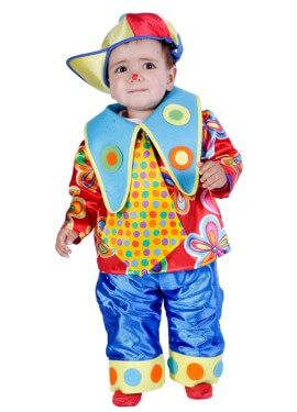 Déguisement de Petit Clown pour bébés de 18 mois Carnaval