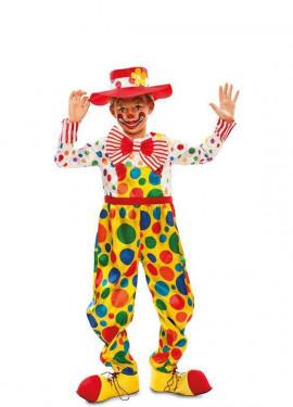 Costume di pagliaccio con talpe per bambino