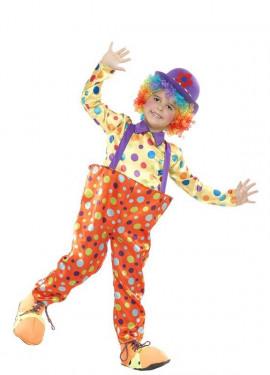 Disfraz de Payaso a lunares para niño