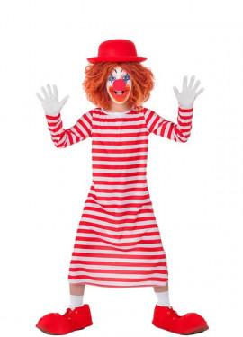 Costume da Pagliaccio a righe per bambini