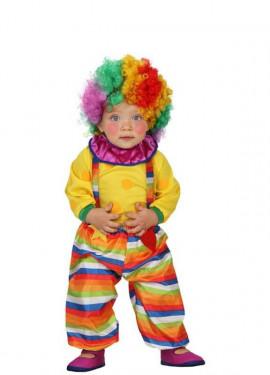 Disfraz de Payaso de rayas para bebés