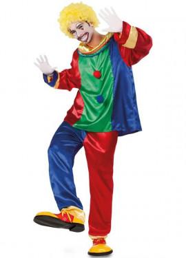 Disfraz de Payaso multicolor para hombre