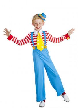 Disfraz de Payaso Rayas para niño